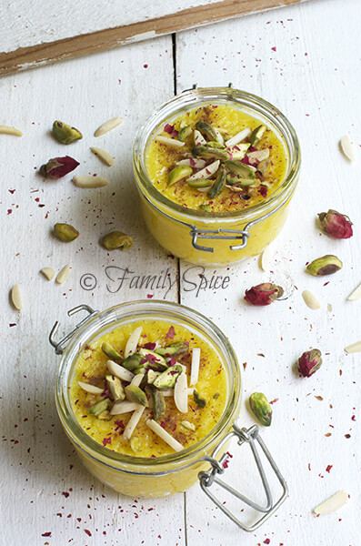 Persian Saffron Rice Pudding - Sholeh Zard by FamilySpice.com