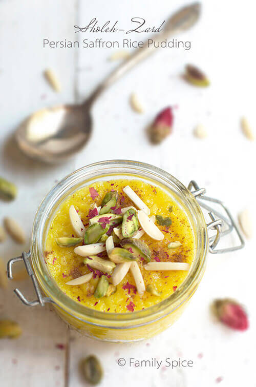 Persian Saffron Rice Pudding – Sholeh Zard