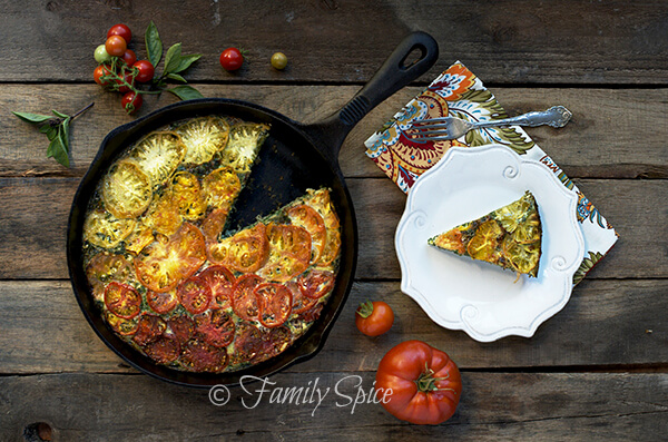 Kale and Heirloom Tomato Crustless Quiche by Family Spice