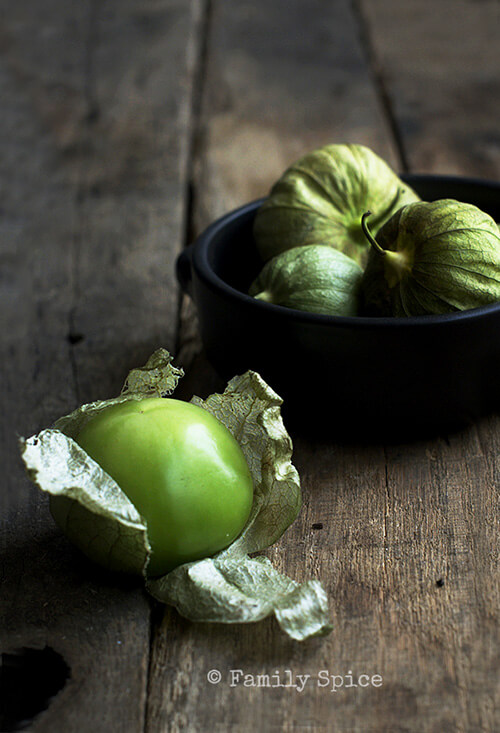 Tomatillos for Hatch Chile Verde with Chicken by FamilySpice.com