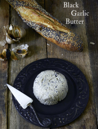 Last Minute Halloween Appetizer: Black Garlic Butter