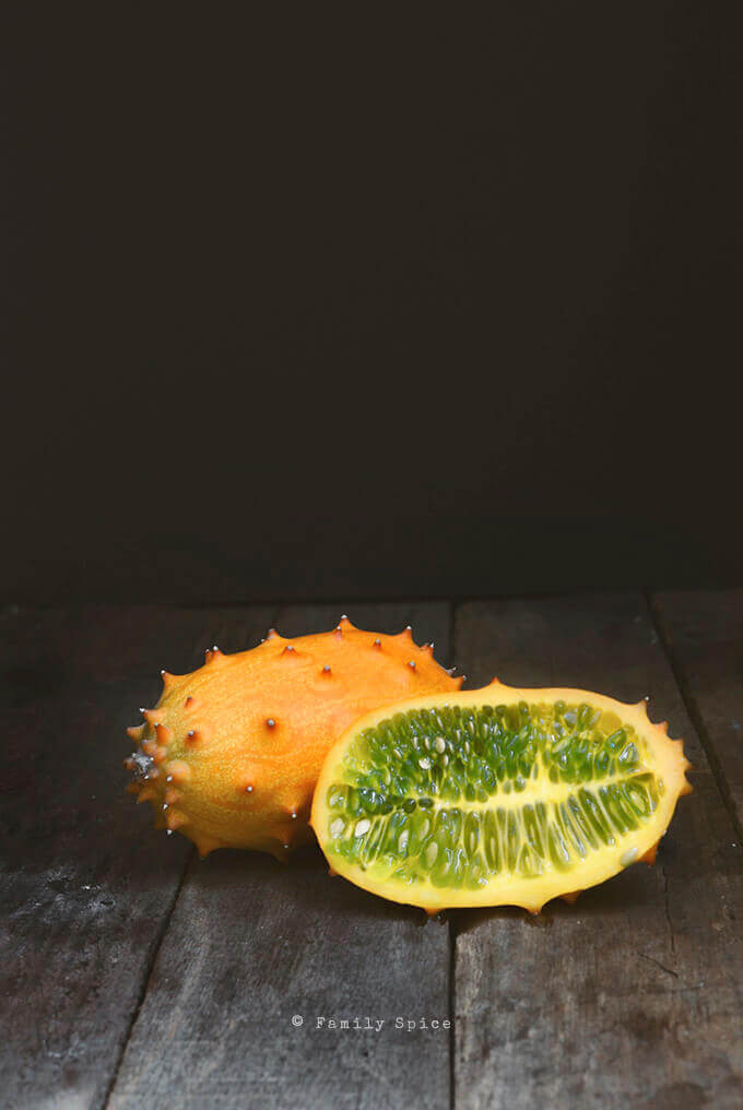 Spooky Fruit for Halloween: Kiwano by FamilySpice.com