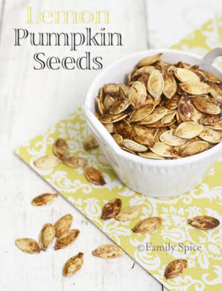 Lemon Pumpkin Seeds by FamilySpice.com