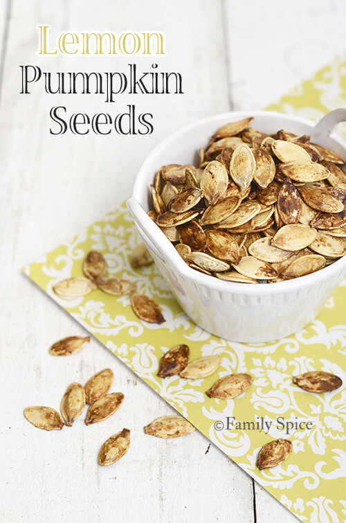Lemon Pumpkin Seeds by FamilySpice.com