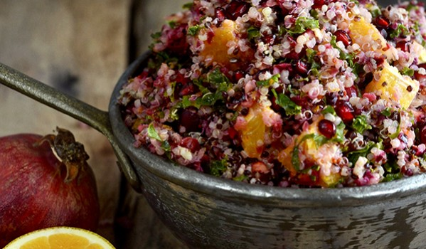 Easy Thanksgiving Meals: Cranberry Orange Quinoa Salad