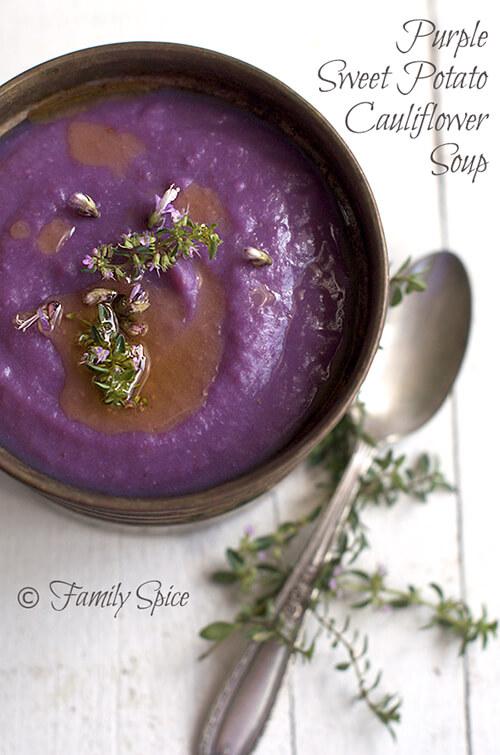 Purple Sweet Potato Soup by FamilySpice.com