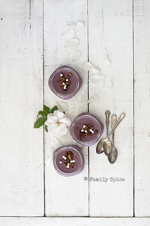 Purple Sweet Potato Pudding by FamilySpice.com