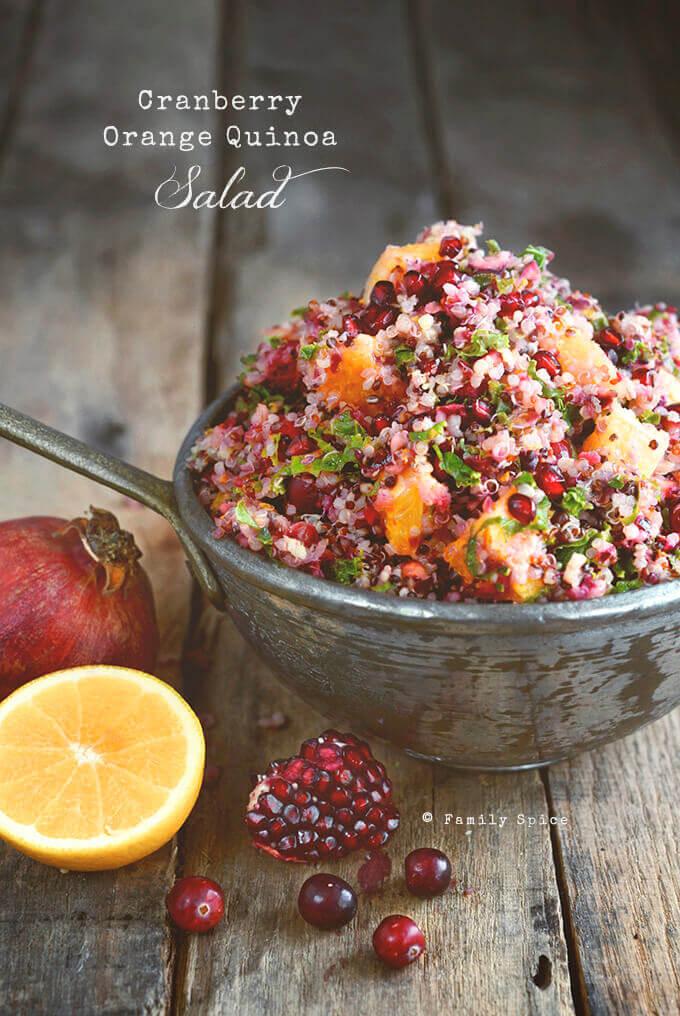 Cranberry Orange Quinoa Salad by FamilySpice.com