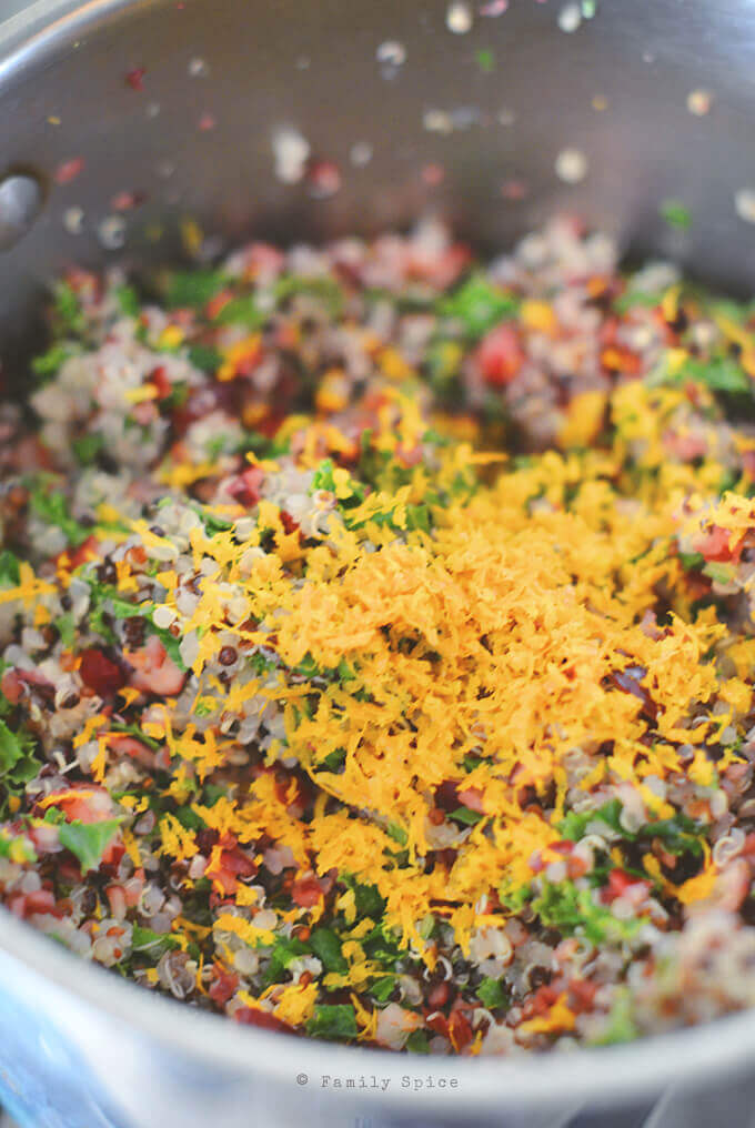 Making Cranberry Orange Quinoa Salad by FamilySpice.com
