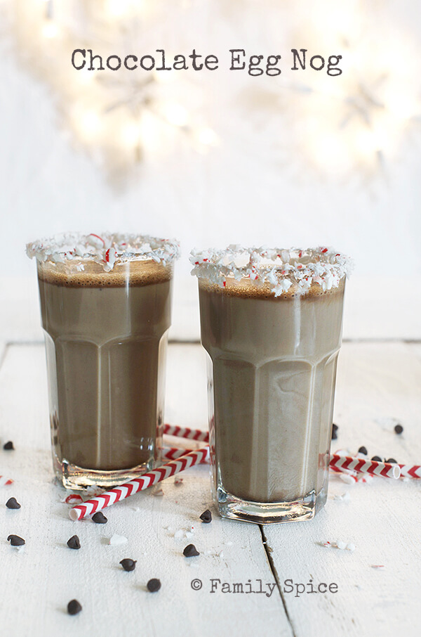 Bottoms Up with Chocolate Egg Nog - Family Spice