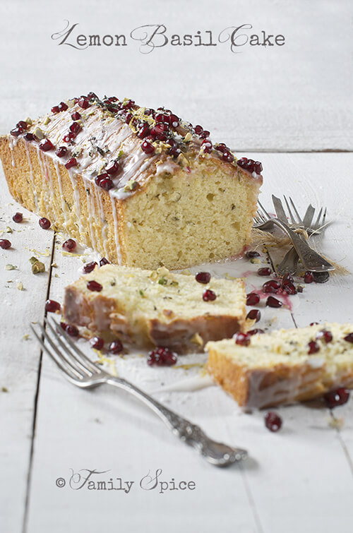 Basil for Lemon Cake with Basil and Pomegranate
