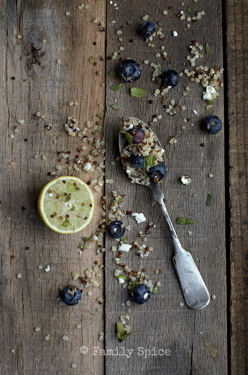 Blueberry Feta Quinoa Salad by FamilySpice.com