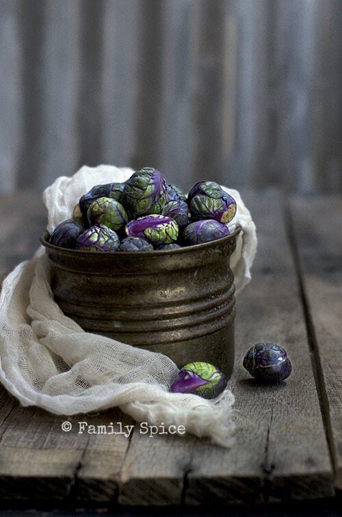 Purple Brussels Sprouts for The Purple Salad by FamilySpice.com