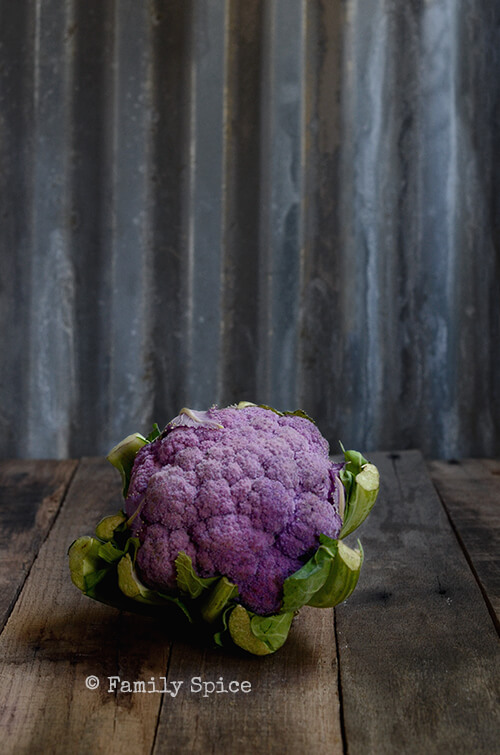 Purple Cauliflower for The Purple Salad by FamilySpice.com