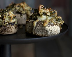 Artichoke and Quinoa Stuffed Mushrooms by FamilySpice.com