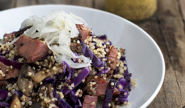 Leftover Corned Beef and Cabbage Quinoa by FamilySpice.com