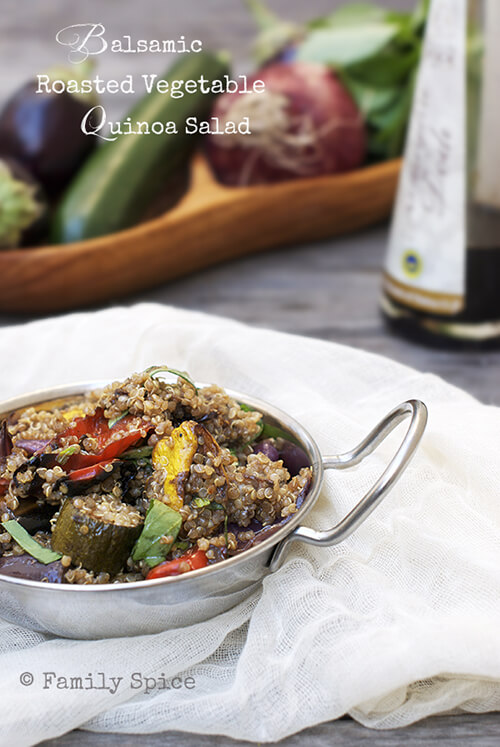 Roasted Balsamic Vegetable Quinoa Salad by FamilySpice.com