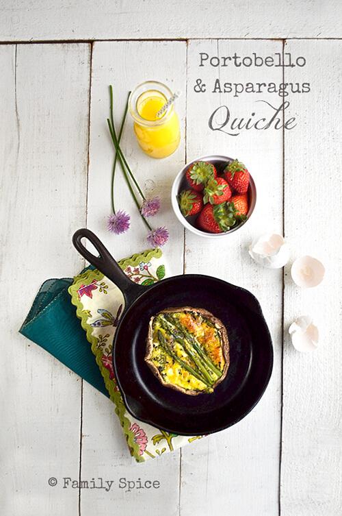 Portobello and Asparagus Quiche by FamilySpice.com