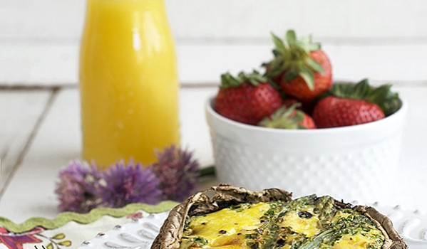 Portobello and Asparagus Quiche by FamilySpice.com