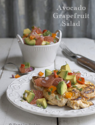 Chicken Breast with Avocado and Grapefruit Salad