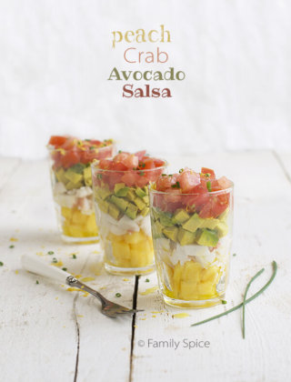 Peach, Crab and Avocado Salsa