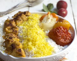 Persian Chicken Kabob (Kabob-eh Morgh) by FamilySpice.com