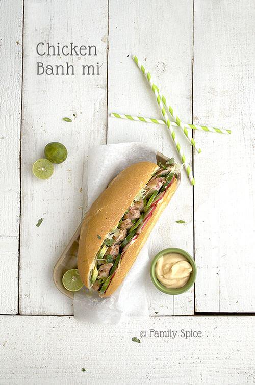 Chicken Banh Mi by FamilySpice.com
