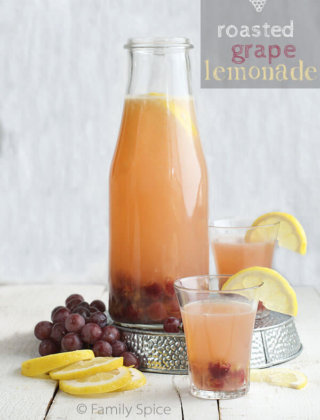 Roasted Grape Lemonade for Alex's Lemonade Stand