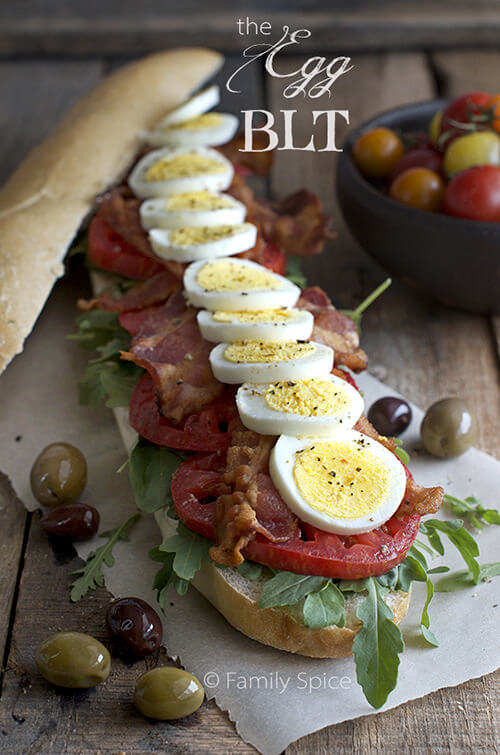 The Egg BLT with arugula by FamilySpice.com