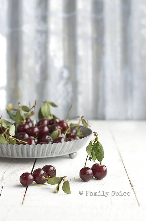 Sour Cherries for Sour Cherry Jam (Moraba Albaloo) by FamilySpice.com