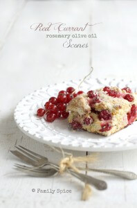 Red Currant and Rosemary Olive Oil Scones by FamilySpice.com