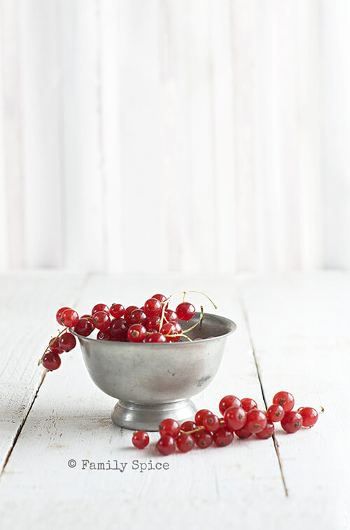 Red Currants for Red Currant and Rosemary Olive Oil Scones by FamilySpice.com