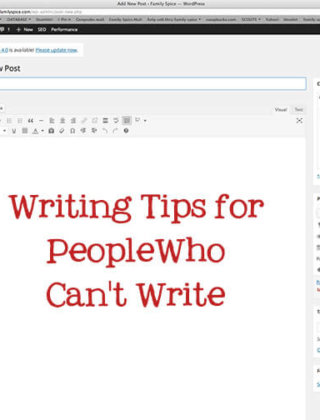 Writing Tips for People Who Can't Write