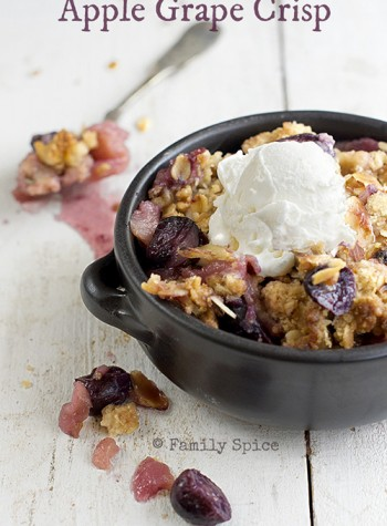 Apple Grape Crisp by FamilySpice.com