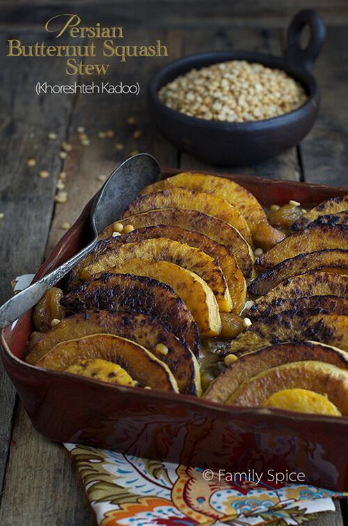 Persian Butternut Squash Stew (Khoresht Kadoo) for Mehregan by FamilySpice.com