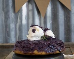 Grape Upside-Down Cake with Balsamic Vinegar by FamilySpice.com