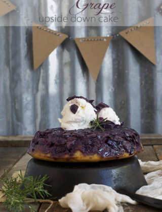 Fall in Love with Grapes with a Grape Upside-Down Cake with Balsamic Vinegar