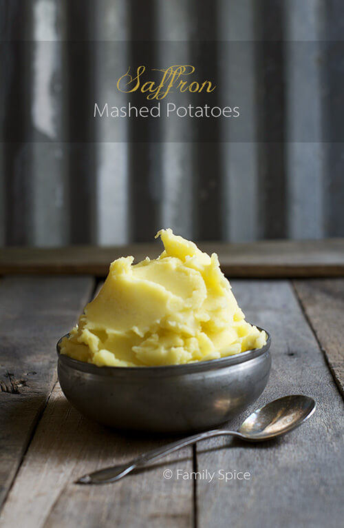 Saffron Mashed Potatoes by FamilySpice.com and a chance to win 5-grams of FREE saffron! (giveaway ends 12/2/2014)