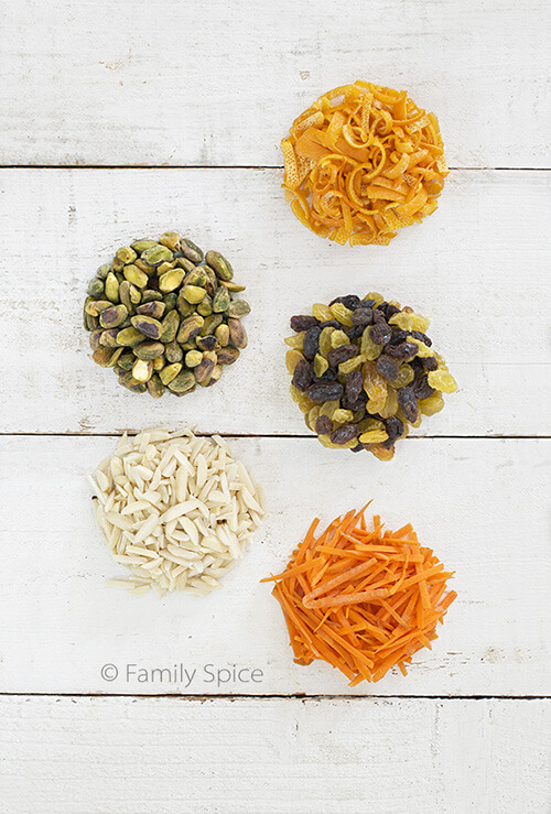 Ingredients for Shirin Polo with Raisins | Persian Sweet Rice by FamilySpice.com