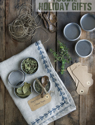 Holiday Gift Ideas for the Foodie: Dried Herbs and Saffron Salt