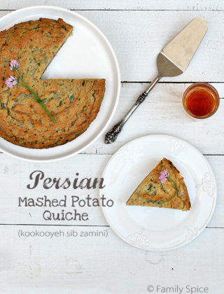 Leftover Mashed Potato Quiche | Kookooyeh Sib Zamini