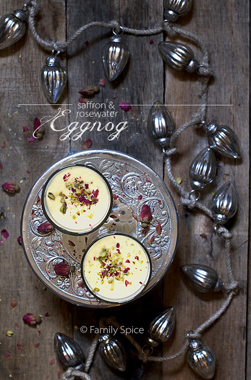 Persian Eggnog with Saffron and Rosewater by Familyspice.com