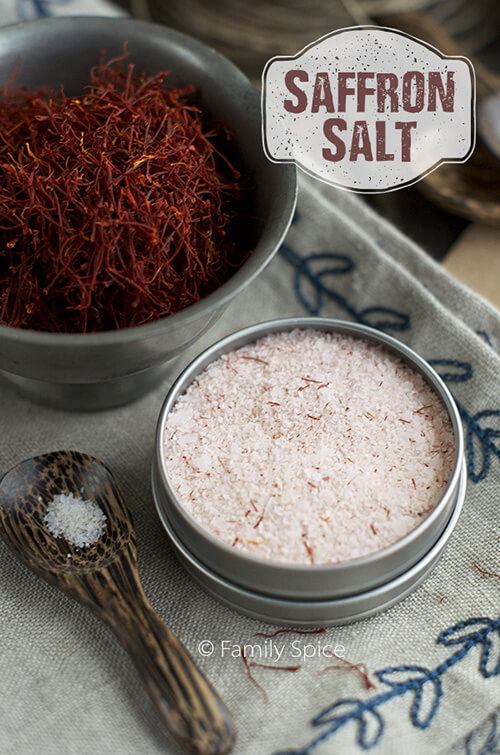 Holiday Gift Ideas for the Foodie: Dried Herbs and Saffron Salt by FamilySpice.com