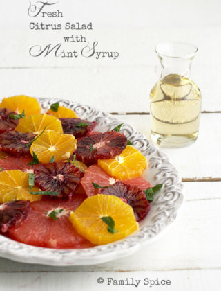 Clean Eating: Fresh Citrus Salad with Mint Syrup