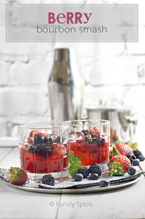 Berry Bourbon Smash by FamilySpice.com