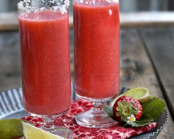 The Strawberry Lime Salty Dog Cocktail by FamilySpice.com