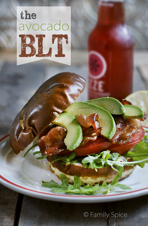 The Avocado BLT with Arugula by FamilySpice.com