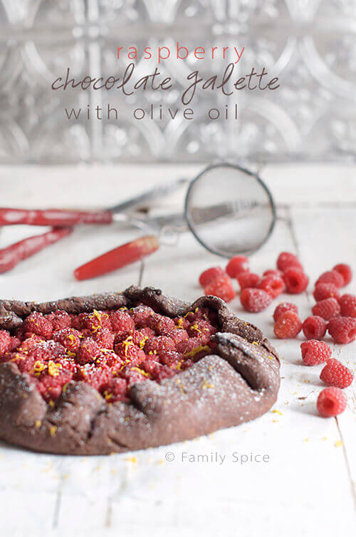 Raspberry Chocolate Galette with Olive Oil by FamilySpice.com