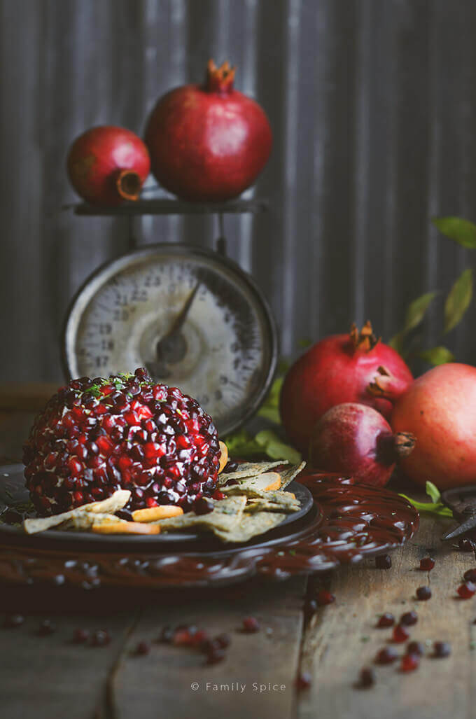 Pomegranate Cheese Ball by FamilySpice.com