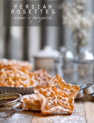 Persian Rosettes | Window Cookies (nan panjareh) by FamilySpice.com